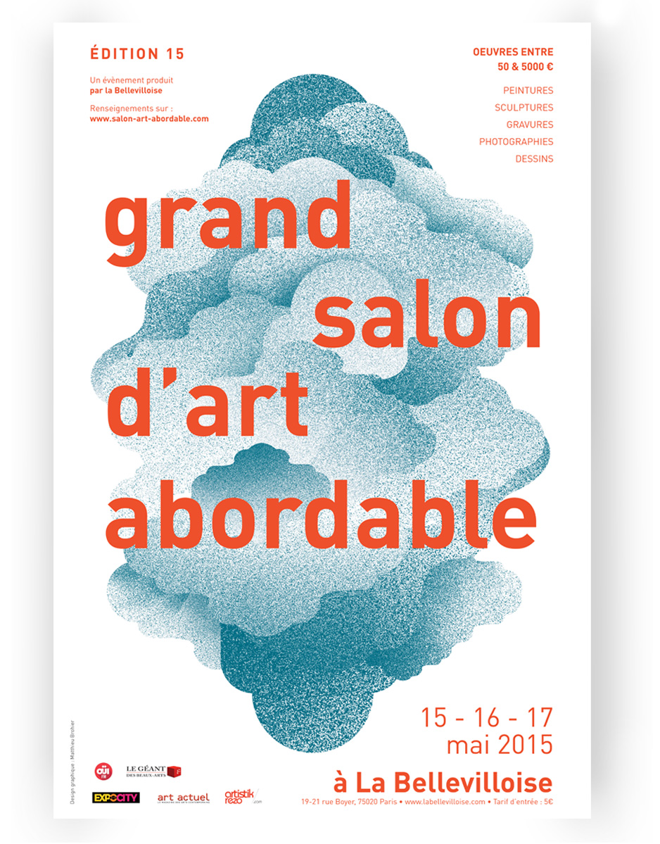 affiche grand salon art abordable
