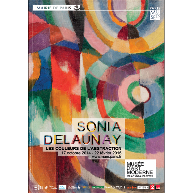 affiche exposition sonia delaunay