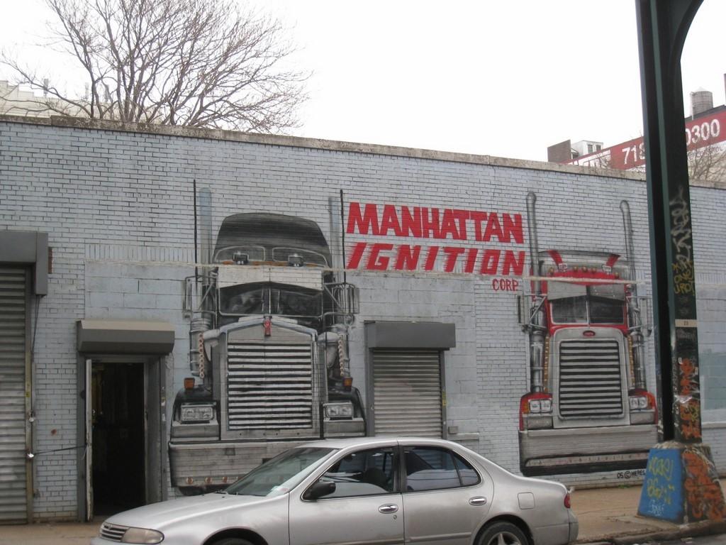 street art NYC 5 pointz camion