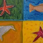 tableau enfant mer