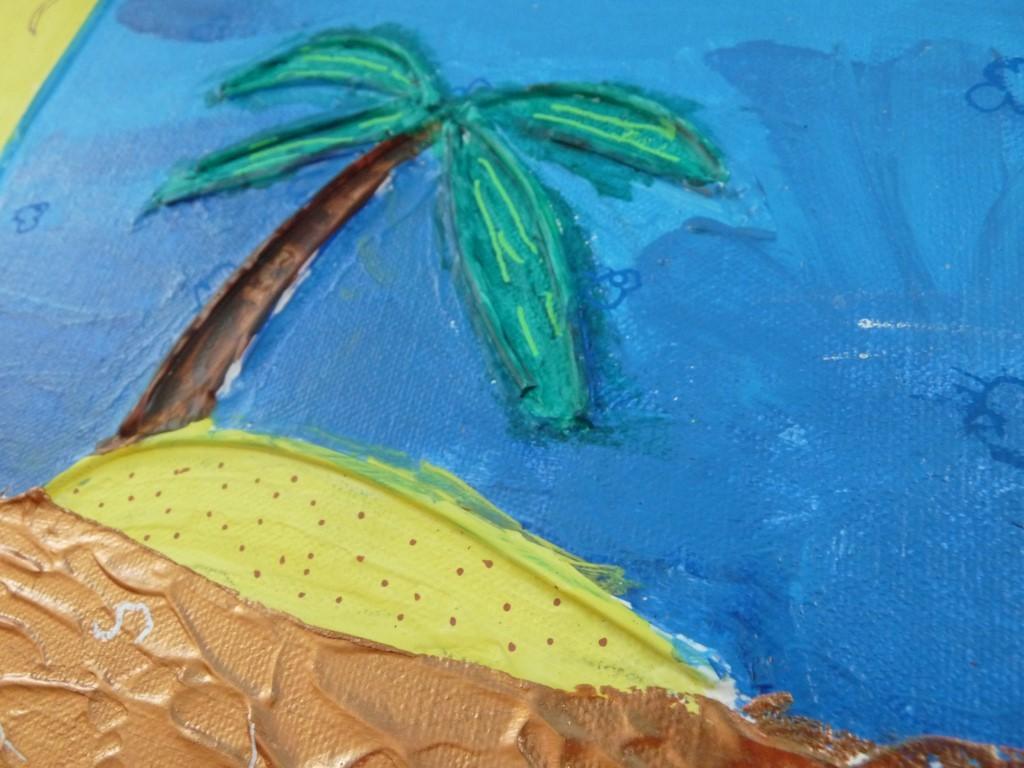 acrylique palmier ile