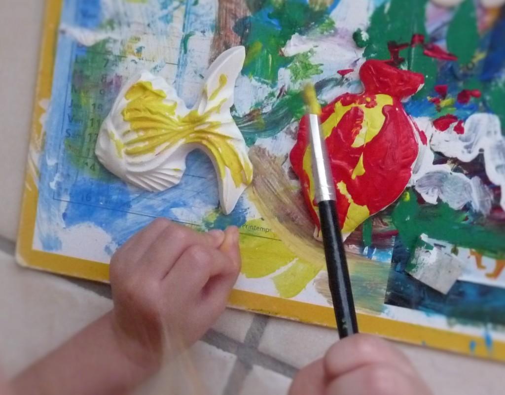peinture poisson enfants