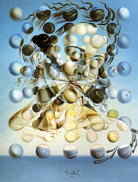 portrait de Gala - par Dali