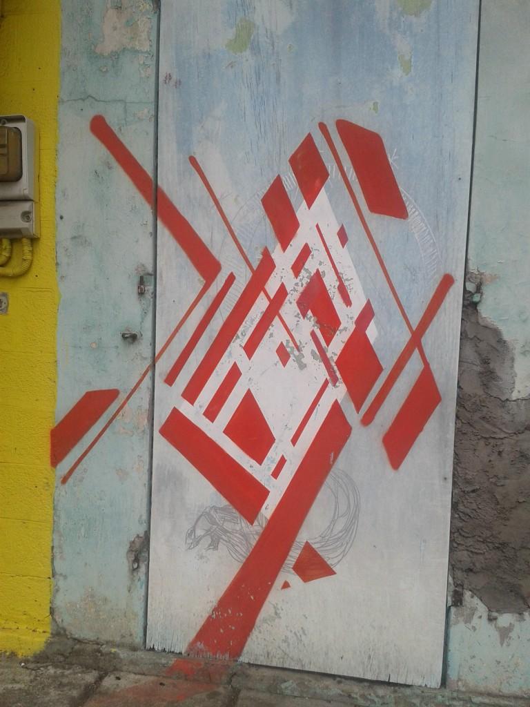 street art - geometrie - rouge