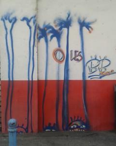 street art b.bird o les mains