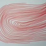 Lignes d'emprunes Elize rouge