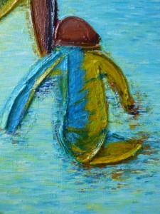 enfant jouant dans l'eau Elize