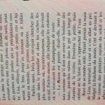 lignes saumon sur livre de poche Elize