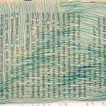lignes bleues et vertes sur livre de poche Elize