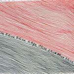 lignes noires et rouges Elize