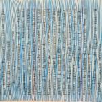 lignes bleues sur livre de poche Elize