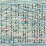 lignes bleu ciel sur livre de poche Elize