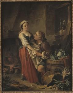 tableau la belle cuisiniere François Boucher