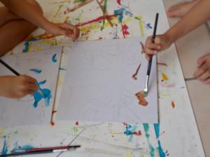 peinture pinceau enfant