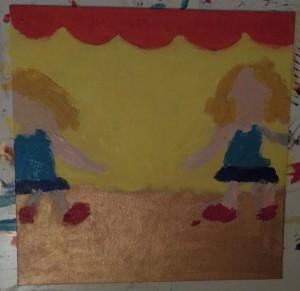 peinture danseuse spectacle