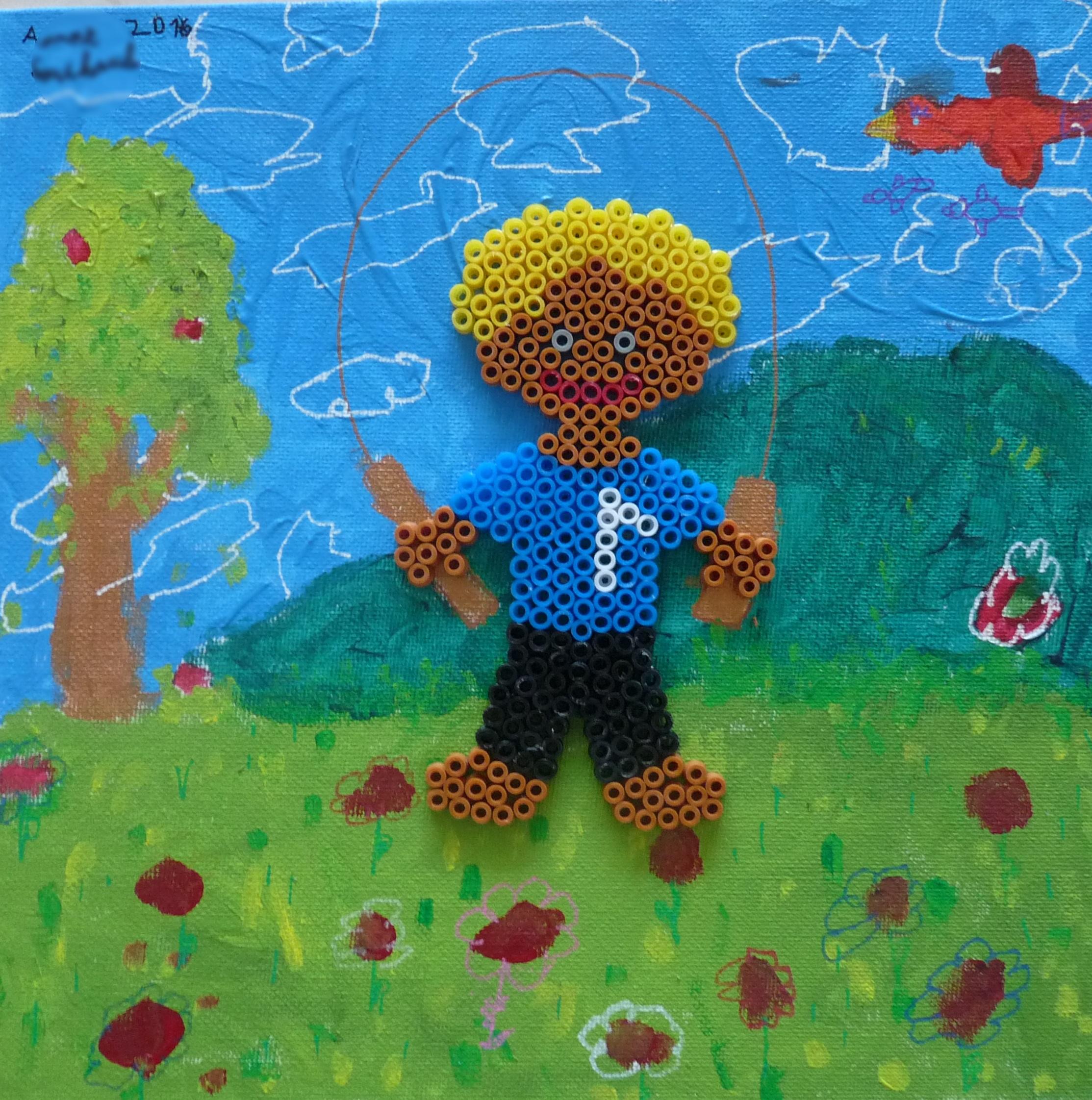 Peindre un décor avec les enfants