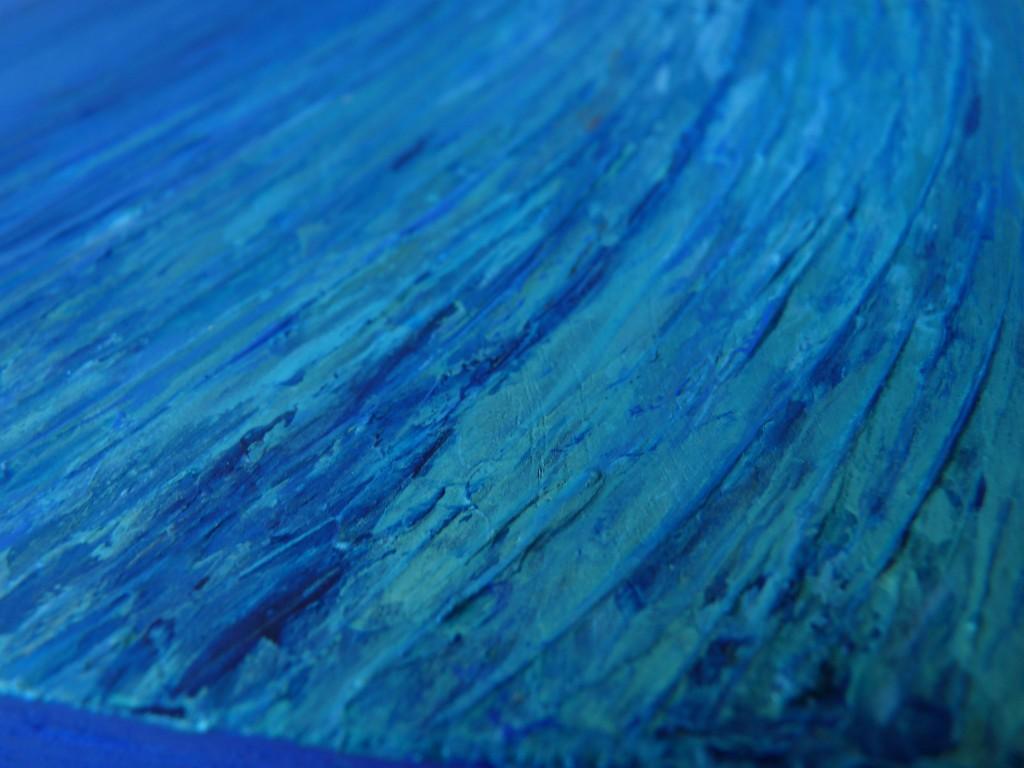 bleu acrylique elize détail relief