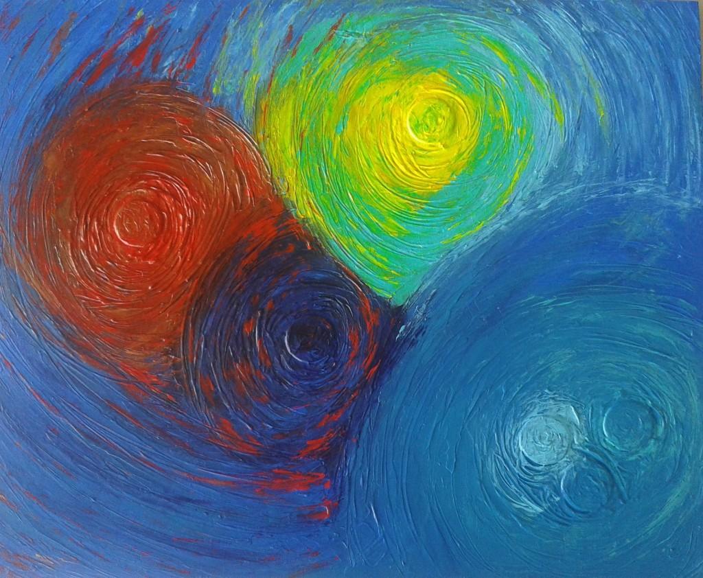 tableau peinture cercles