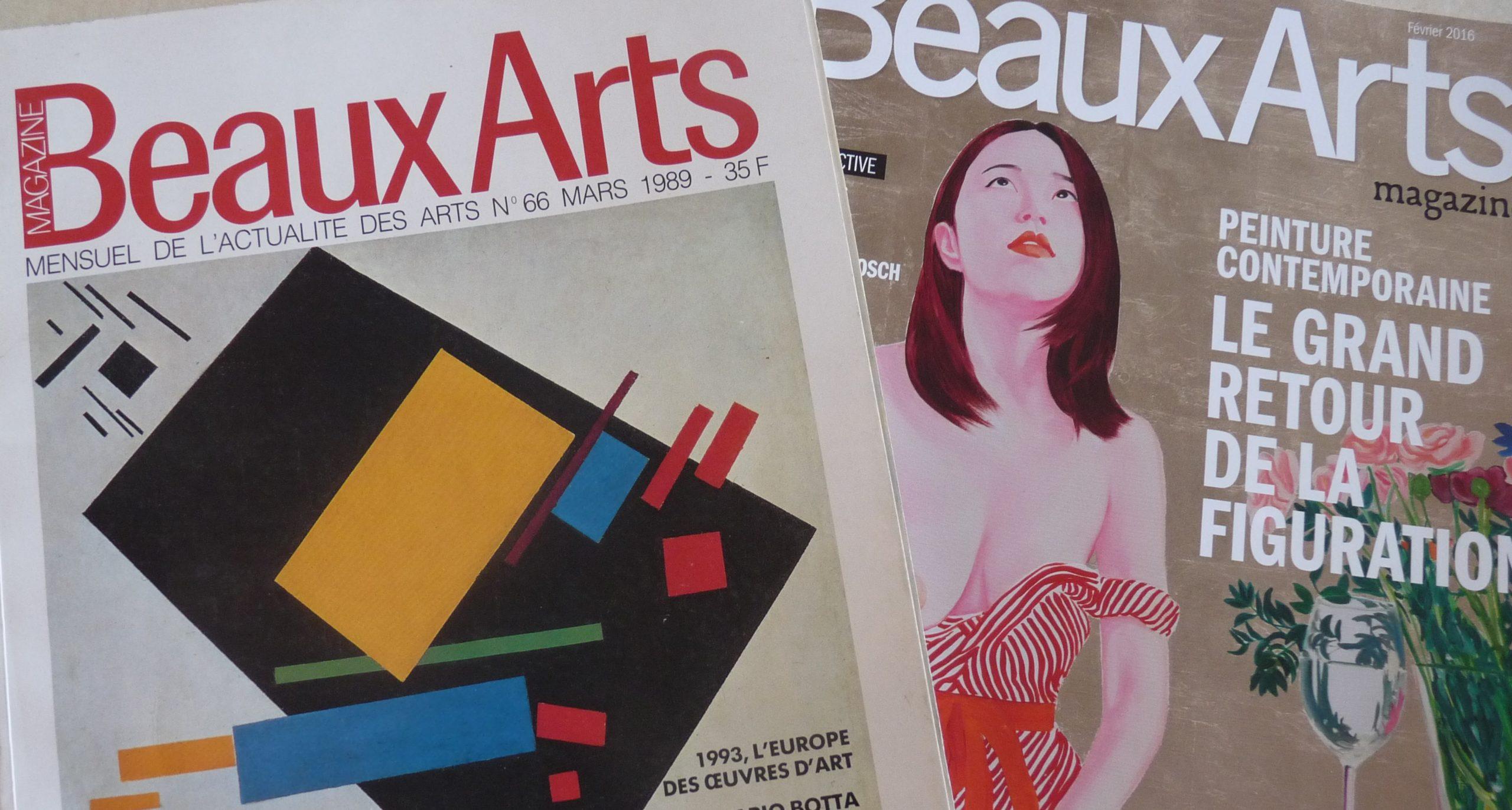 couverture beaux-arts magazine avant après