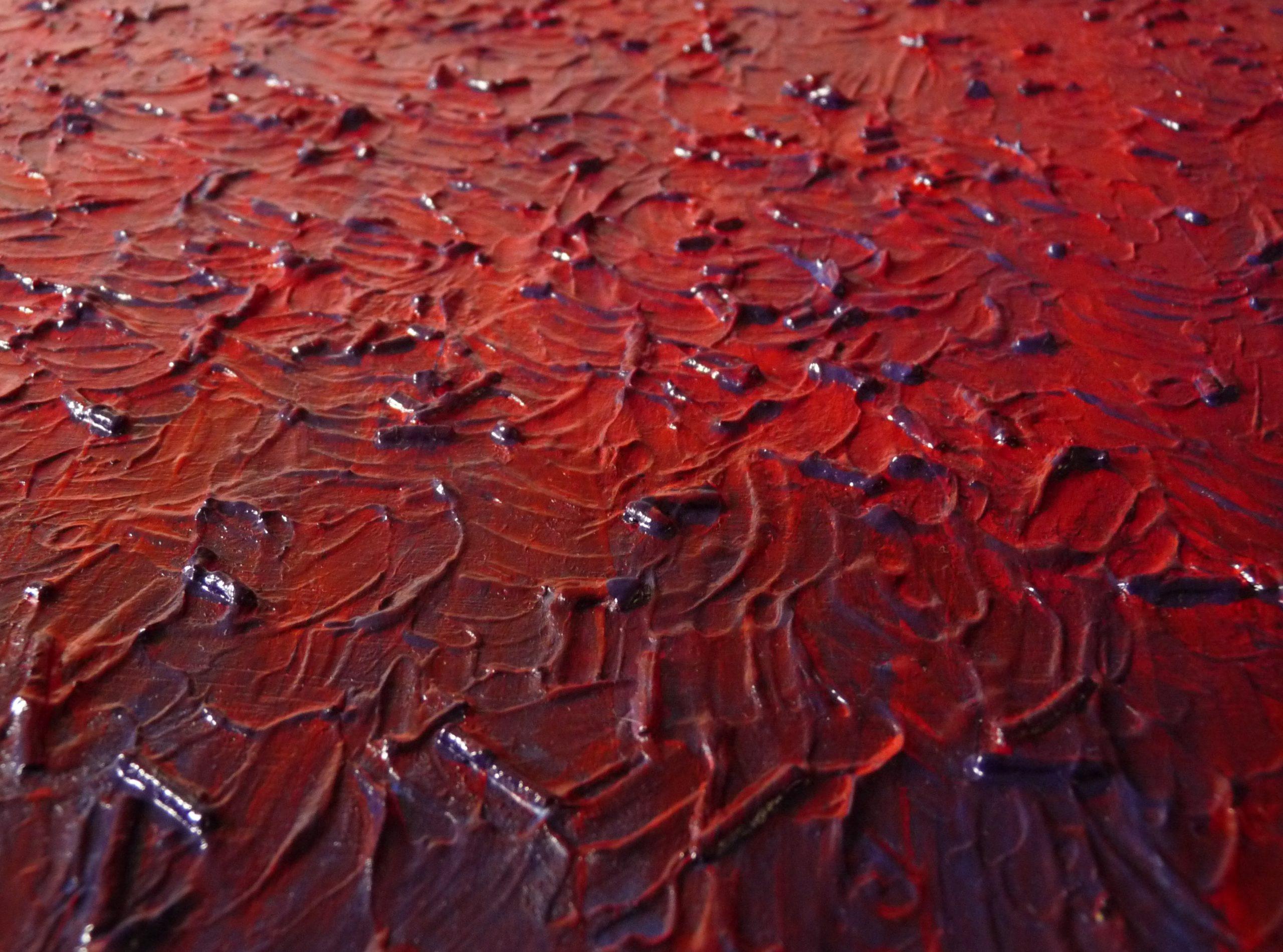 rouge bleu tableau relief tableau en acrylique rouge bleu