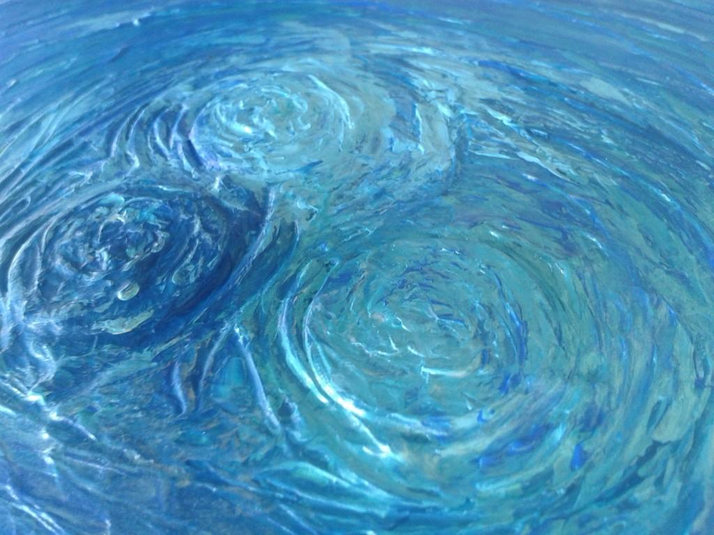 peinture bleu cercle