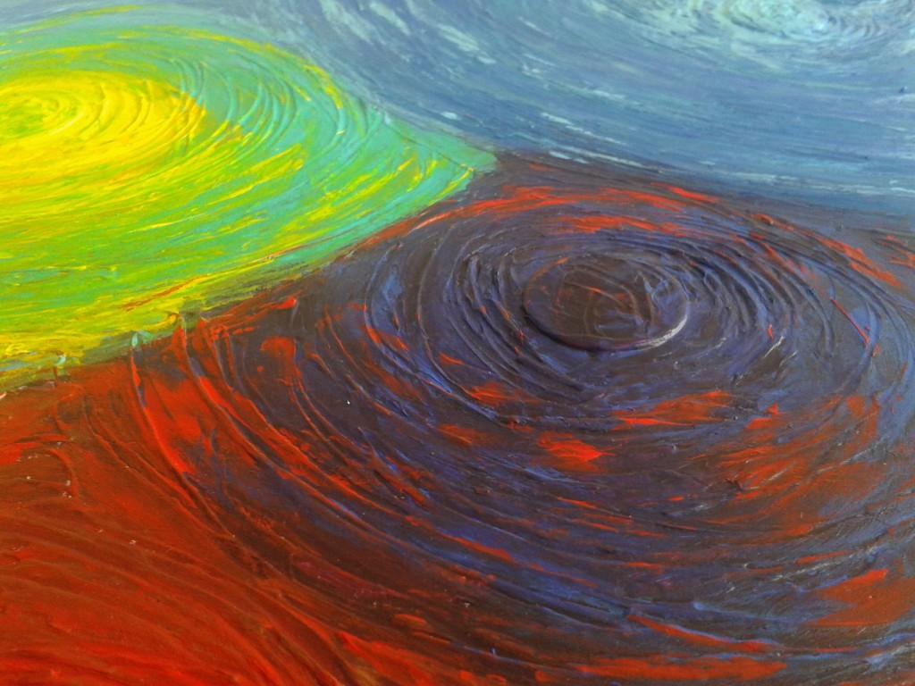 peinture violet cercle abstrait