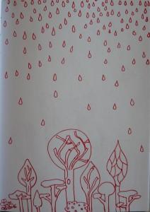 coloriage pluie foret adulte