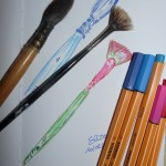 pinceaux aquarelles