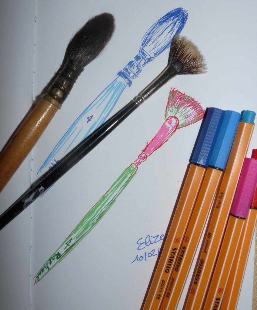 pinceaux aquarelles raphael