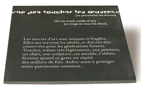 5 autorisations de toucher de l'art
