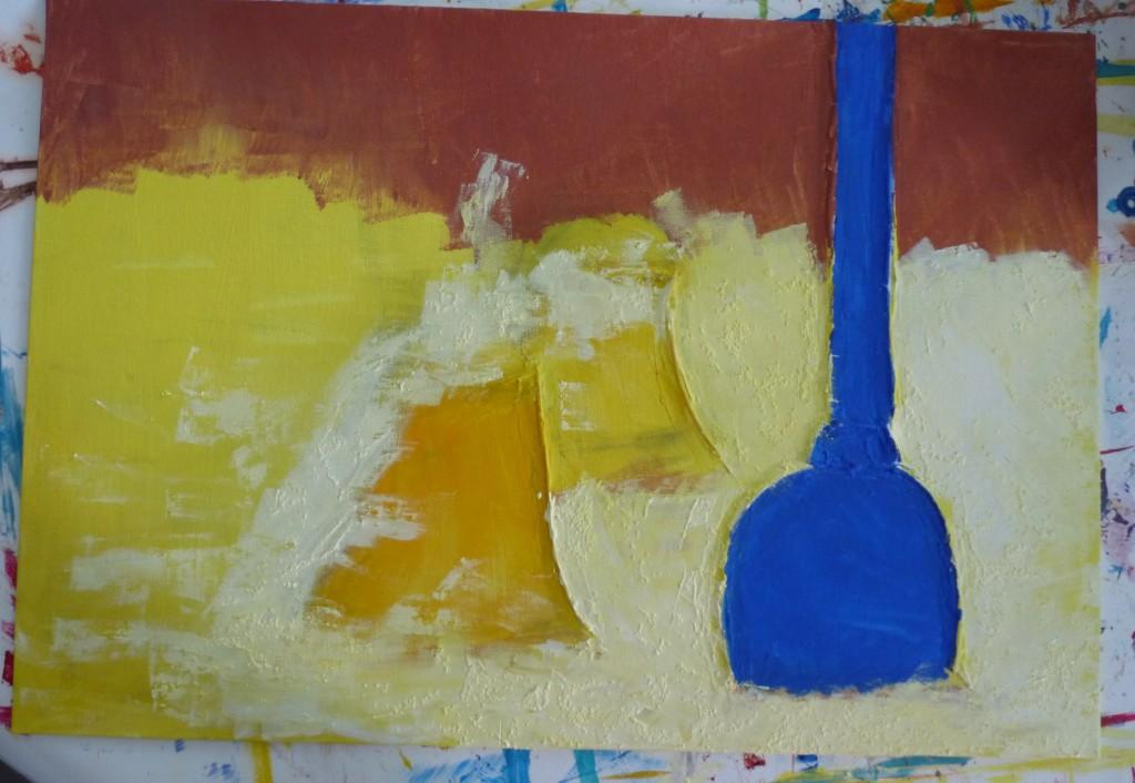 peinture en cours travail