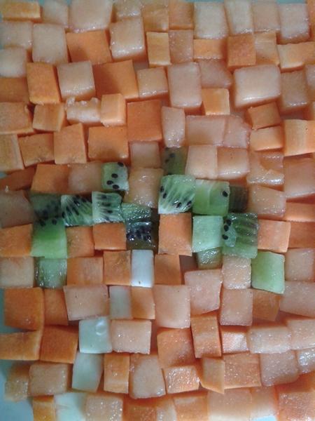 melon carotte kiwi cube palmier