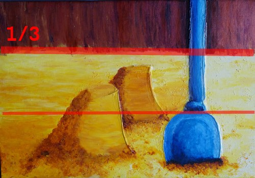 composition tiers pelle bleue