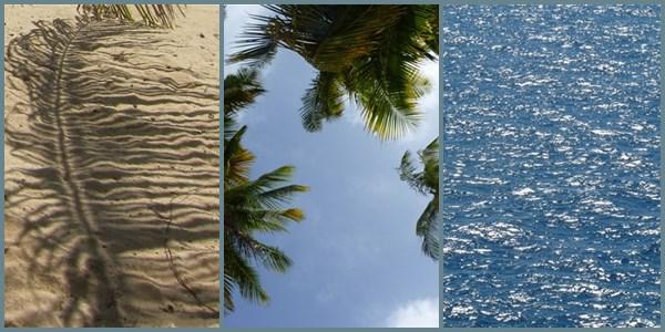 La mer, le sable : inspiration de bleus