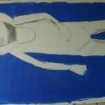 debut peinture bleu