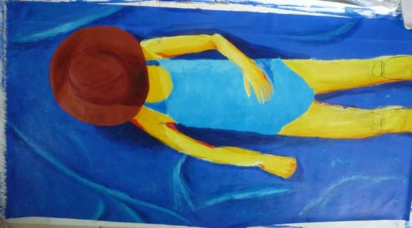 tableau serviette peinture