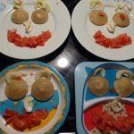 visage repas tomate artichaut mayonnaise