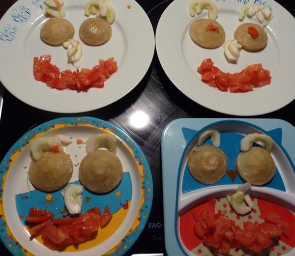 visage repas tomate artichaut mayonnaise jouer avec la nourriture