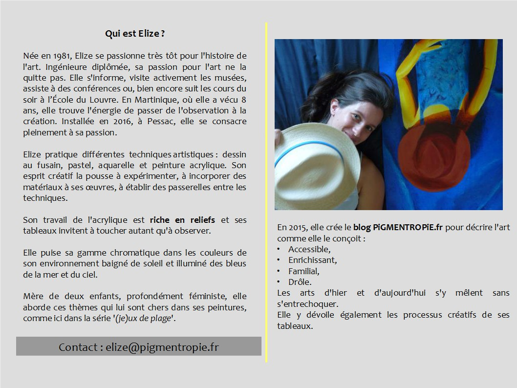presentation Elize portfolio d'Elize