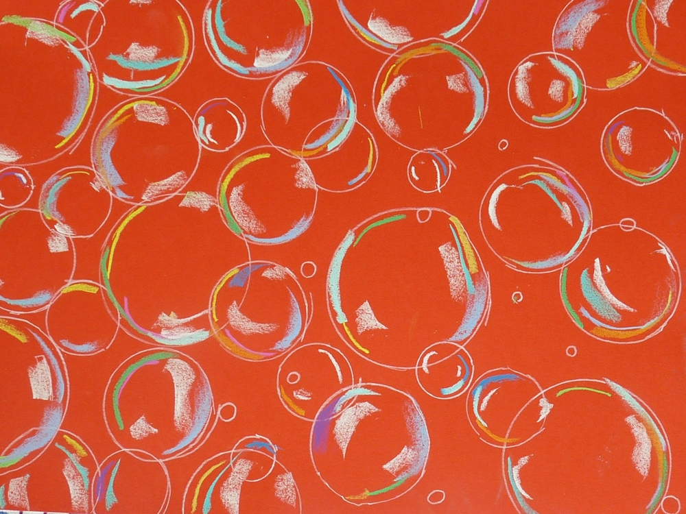 dessin fond rouge bulle enfant