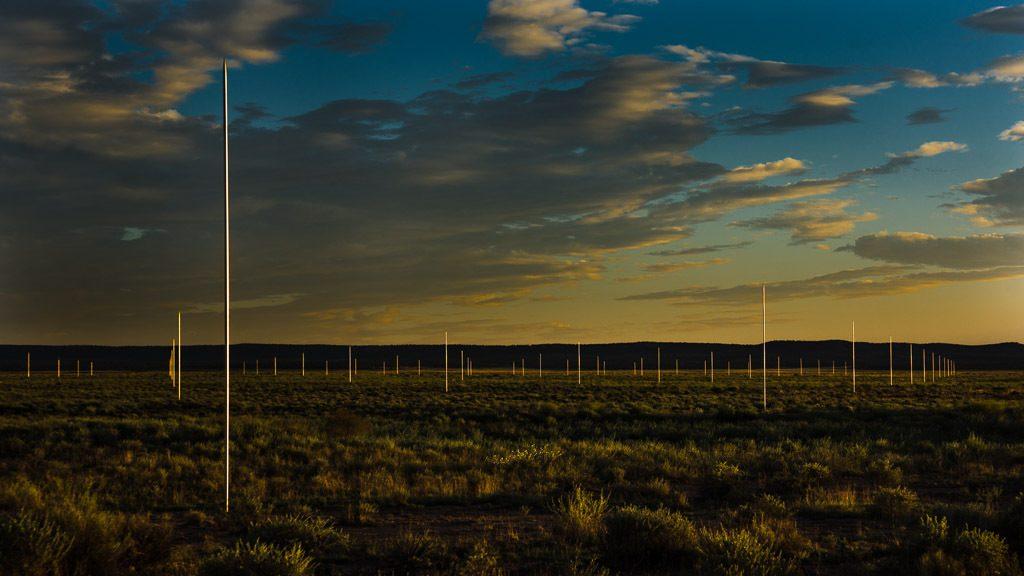 champ d'orage walter de maria ligthning field