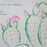 figuier de barbarie fleurs tropicales dessin cactus