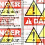 danger peinture au cadmium