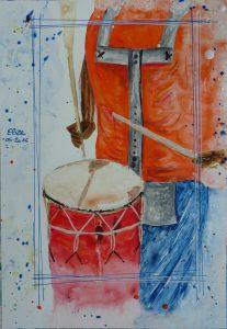 joueur de tambour au carnaval