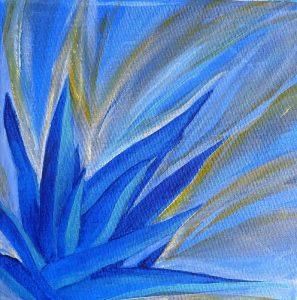 fleur bleue aloe vera