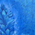 alpinia detail bleu fleur tropicale