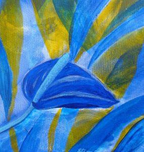 anthurium bleu fleur tropicale