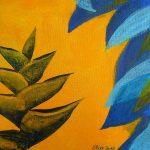 balisier bleu fleur tropicale