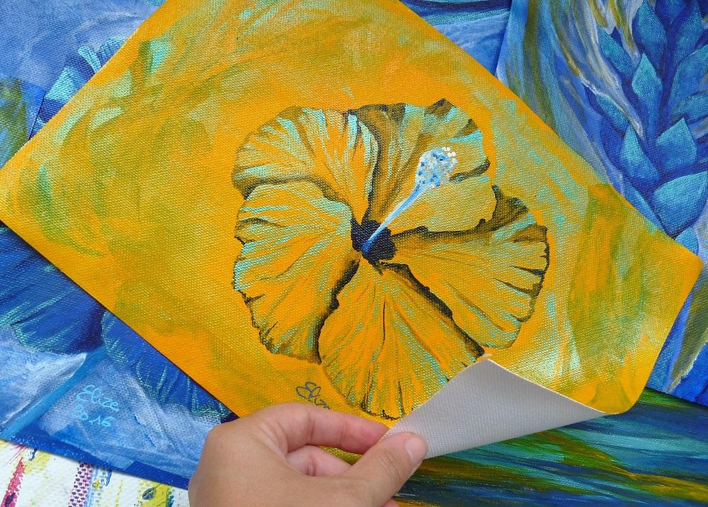 hibiscus jaune fleur tropicale toile