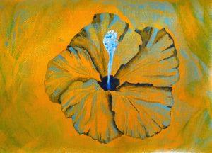hibiscus jaune fleur tropicale